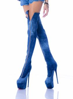 Cizme Rhea JEANS COUTURE by EUGEN OLTEANU