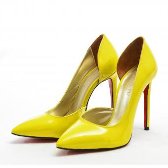 Pantofi Stiletto Yellow